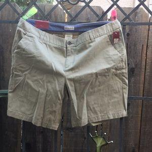 Merona khaki Chino short size 16 new